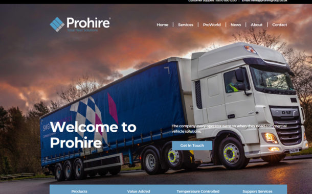 Prohire Launches Brand New, Bold And Interactive Website.
